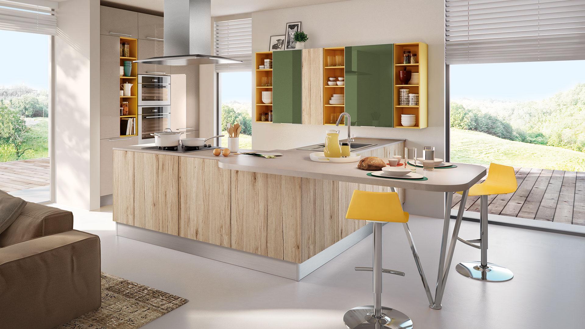Le cucine bicolore la nuova tendenza per la casa lube - Cucina penisola ikea ...