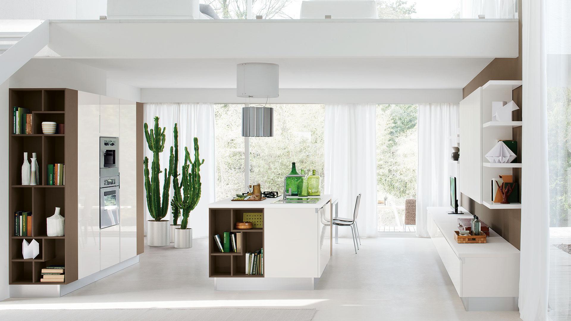 Cucina bianca 5 soluzioni per arredare proposti da lube - Cucina bianca legno ...