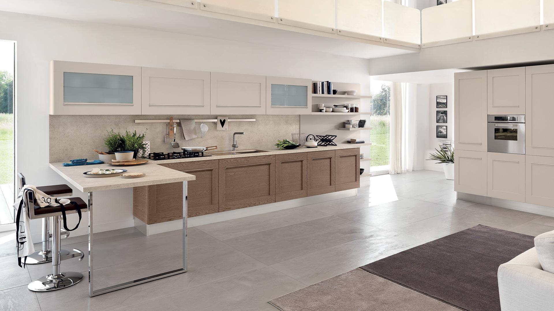 Come scegliere il pavimento per la cucina lube store milano le cucine lube creo a milano - Rivestimento cucina no piastrelle ...