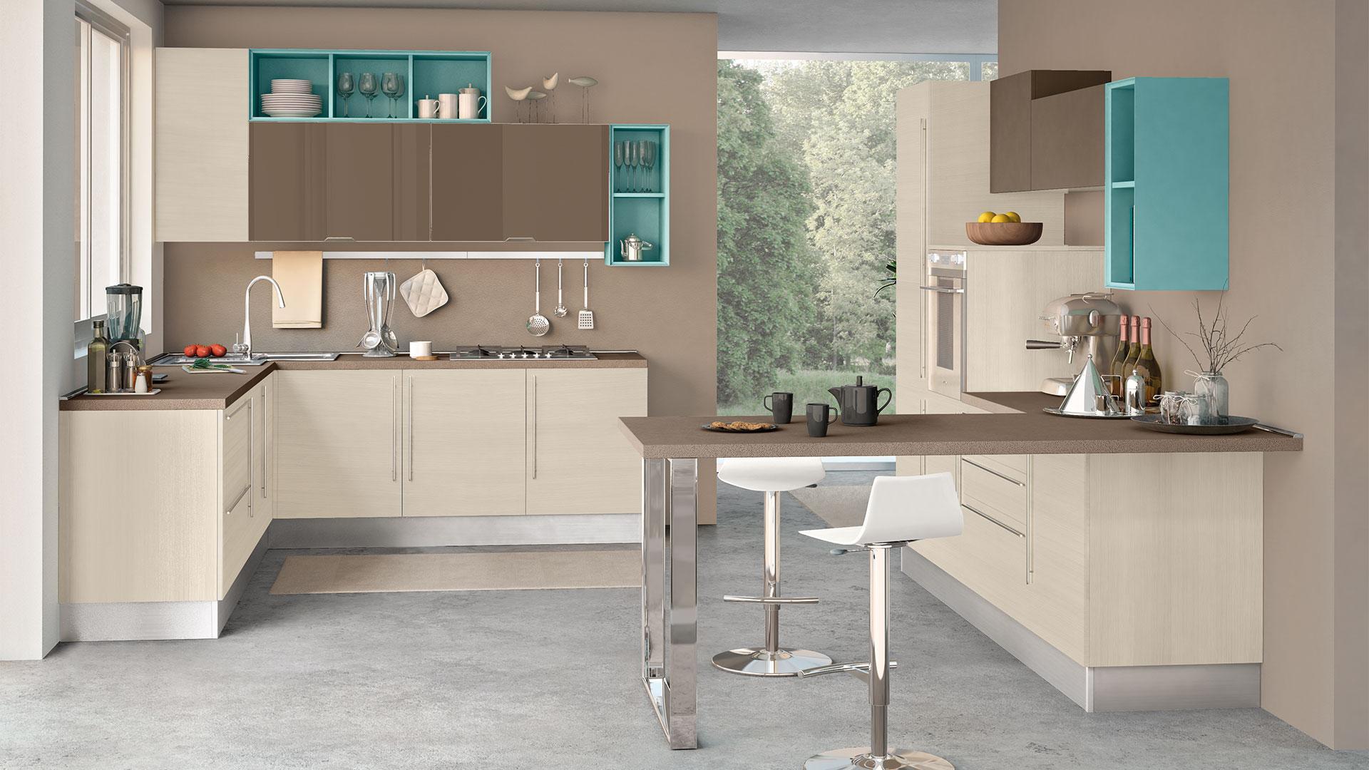 Come scegliere il colore delle pareti per la cucina i consigli per ogni modello cucine lube - Colori pareti cucina classica ...