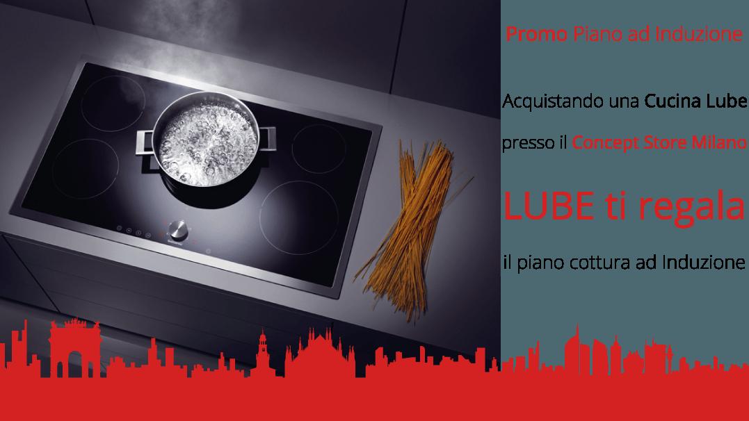 Piano Cottura ad Induzione - Lube Store Milano - Le Cucine Lube ...