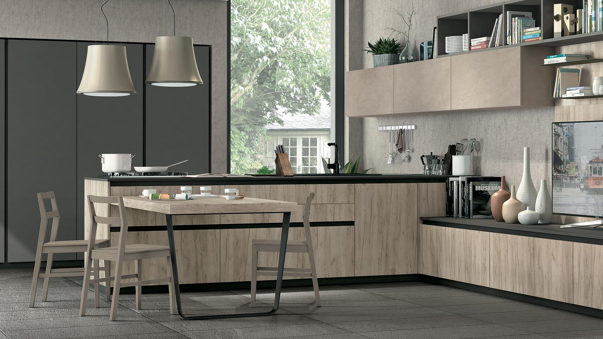 Le nuove cucine moderne lube store milano le cucine - Cucine componibili bianche ...