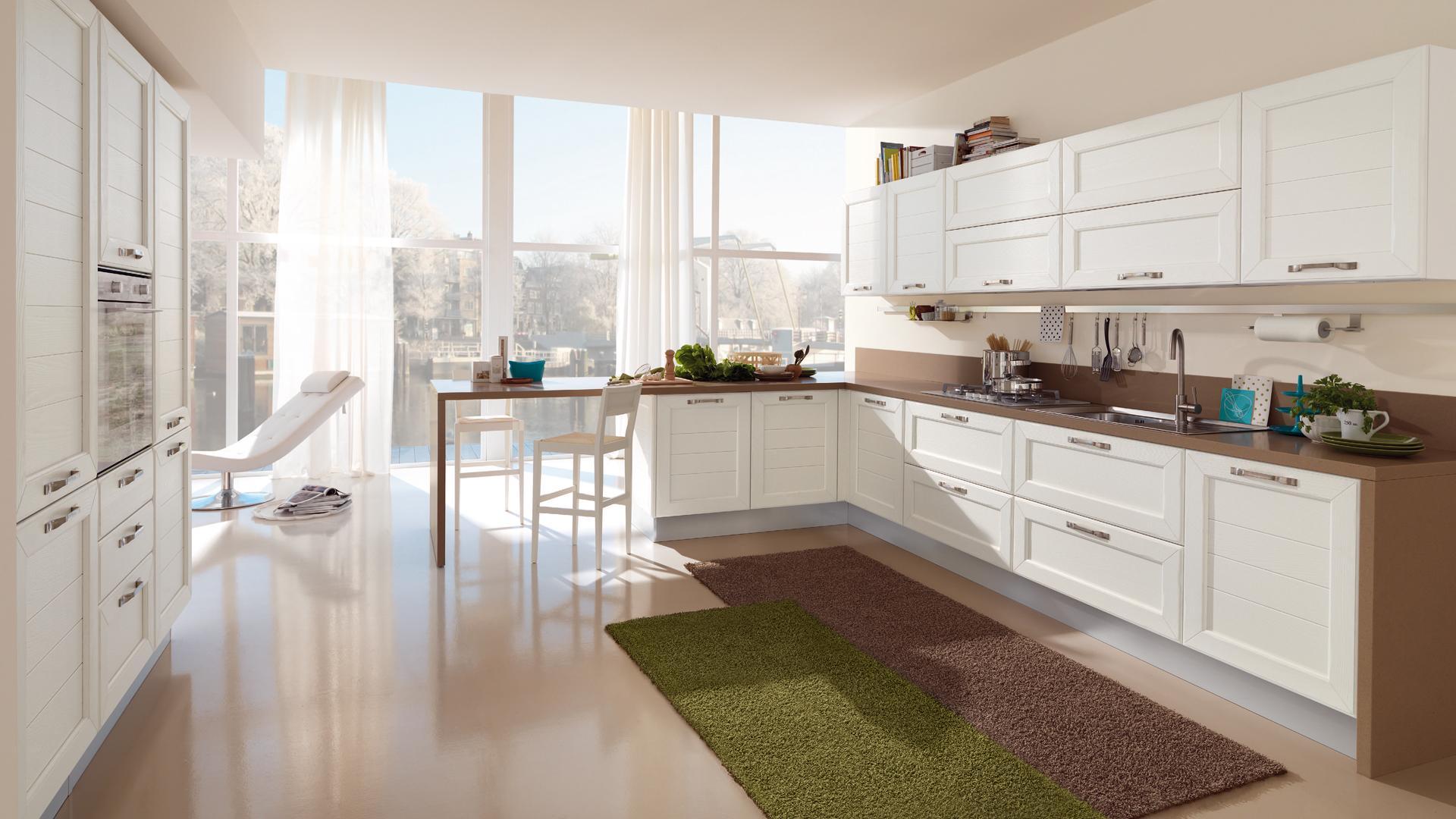 Cucine lube ad angolo i suggerimenti per arredare lube store milano le cucine lube creo a - Cucina classica contemporanea ...