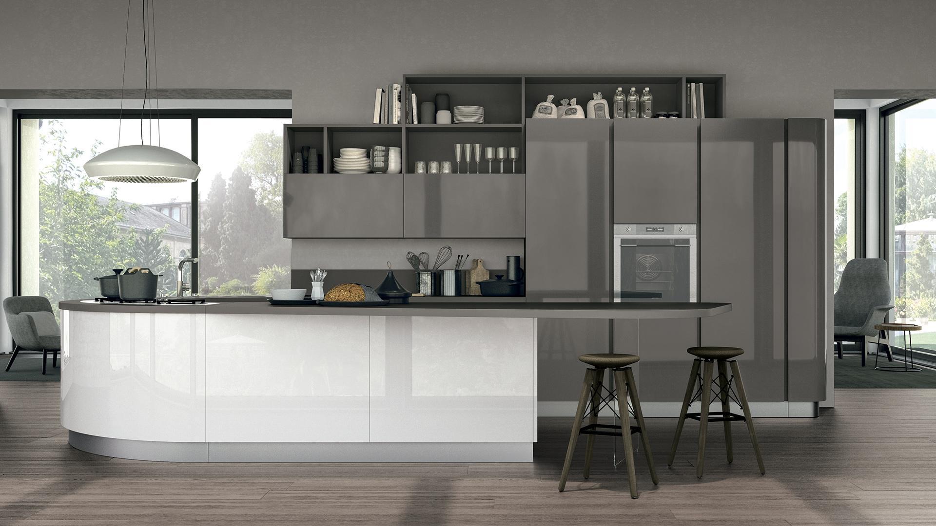 Arredare una cucina buia tutti i consigli per renderla pi luminosa lube store milano le - Cucine living moderne ...
