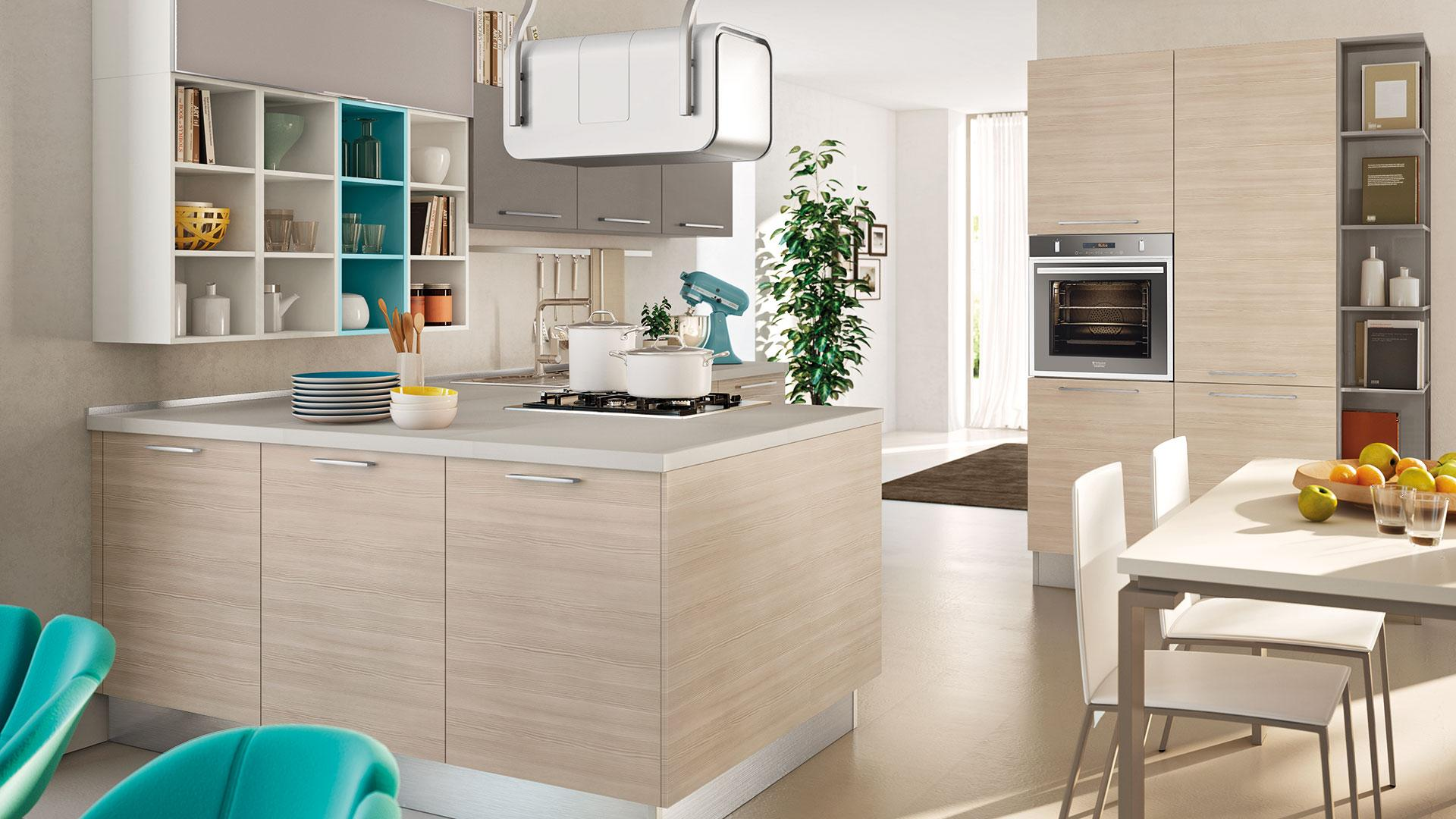 I consigli per arredare una cucina quadrata senza errori lube store milano le cucine lube - Idee per arredare la cucina ...