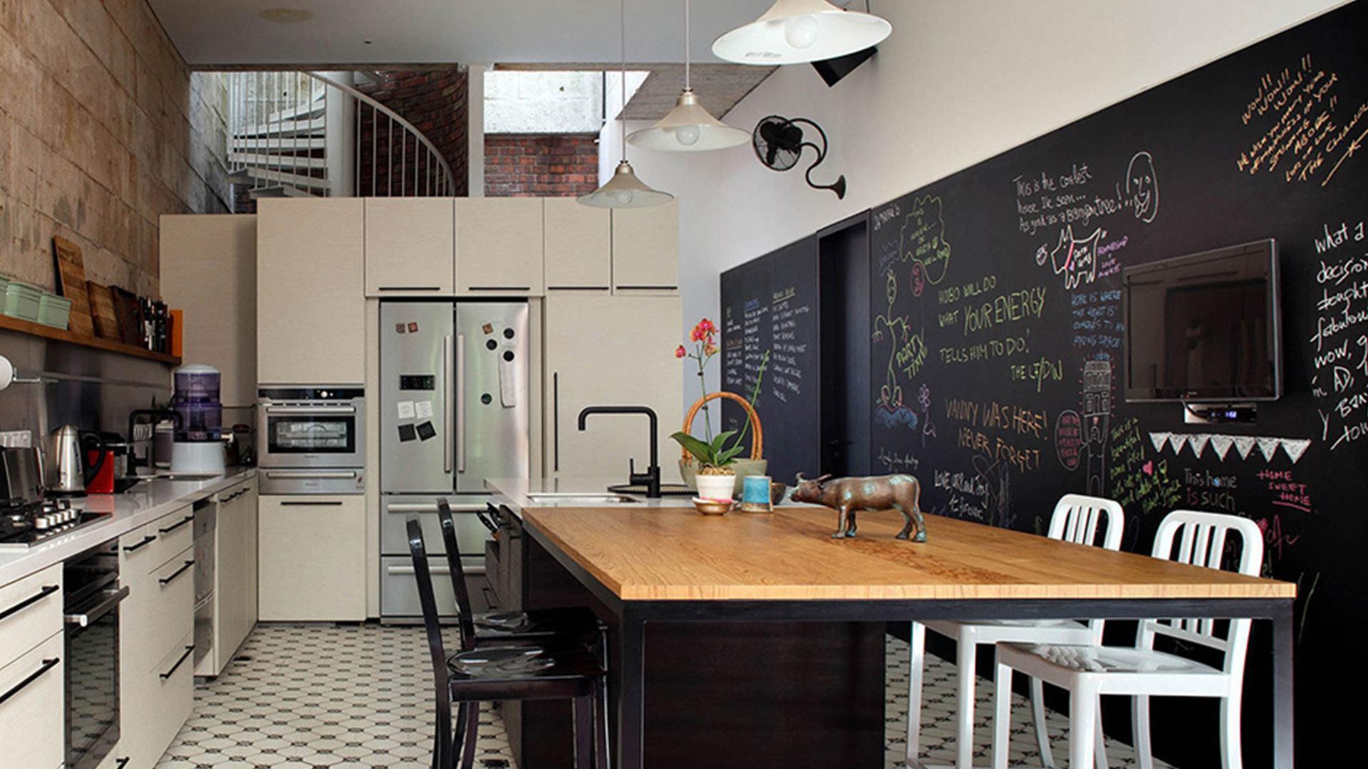 Pittura lavagna in cucina  Lube Store Milano - Le Cucine Lube & Creo a M...