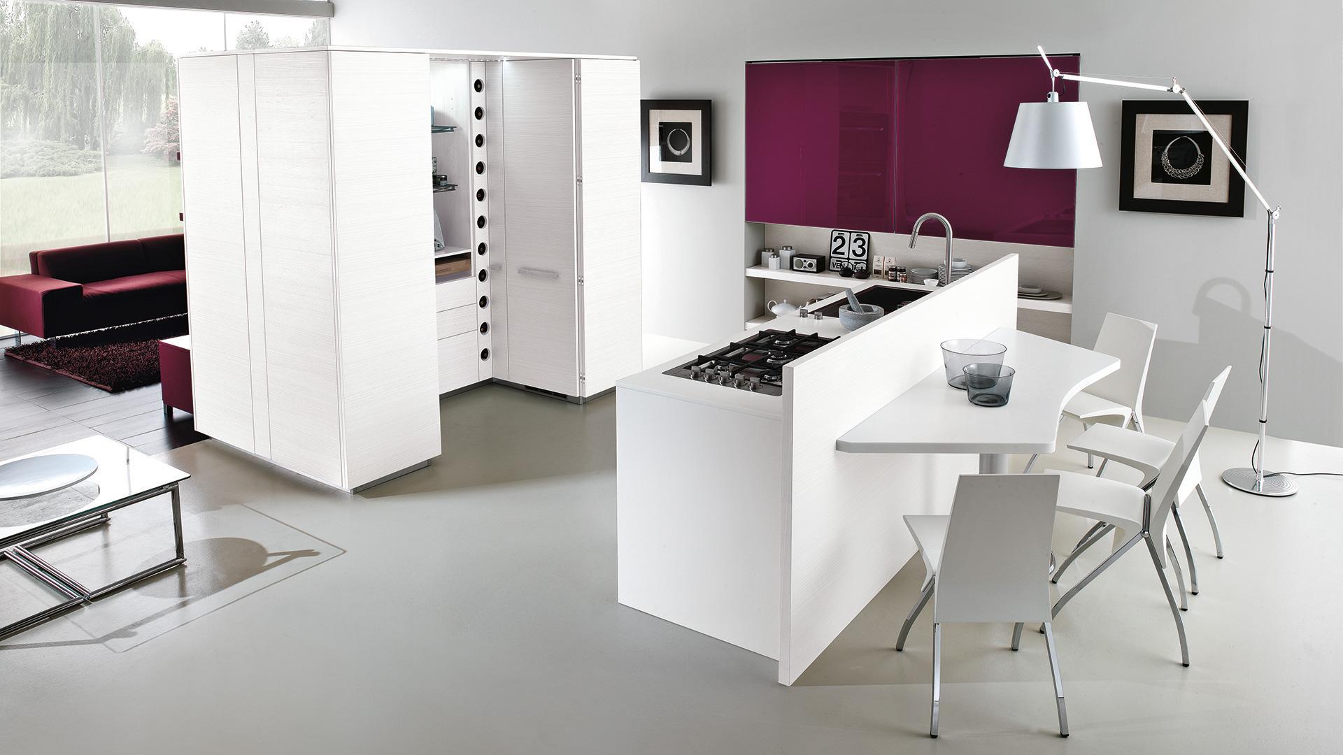 Cucina moderna con isola 4 motivi per sceglierla lube store milano - Cucine con isola ...