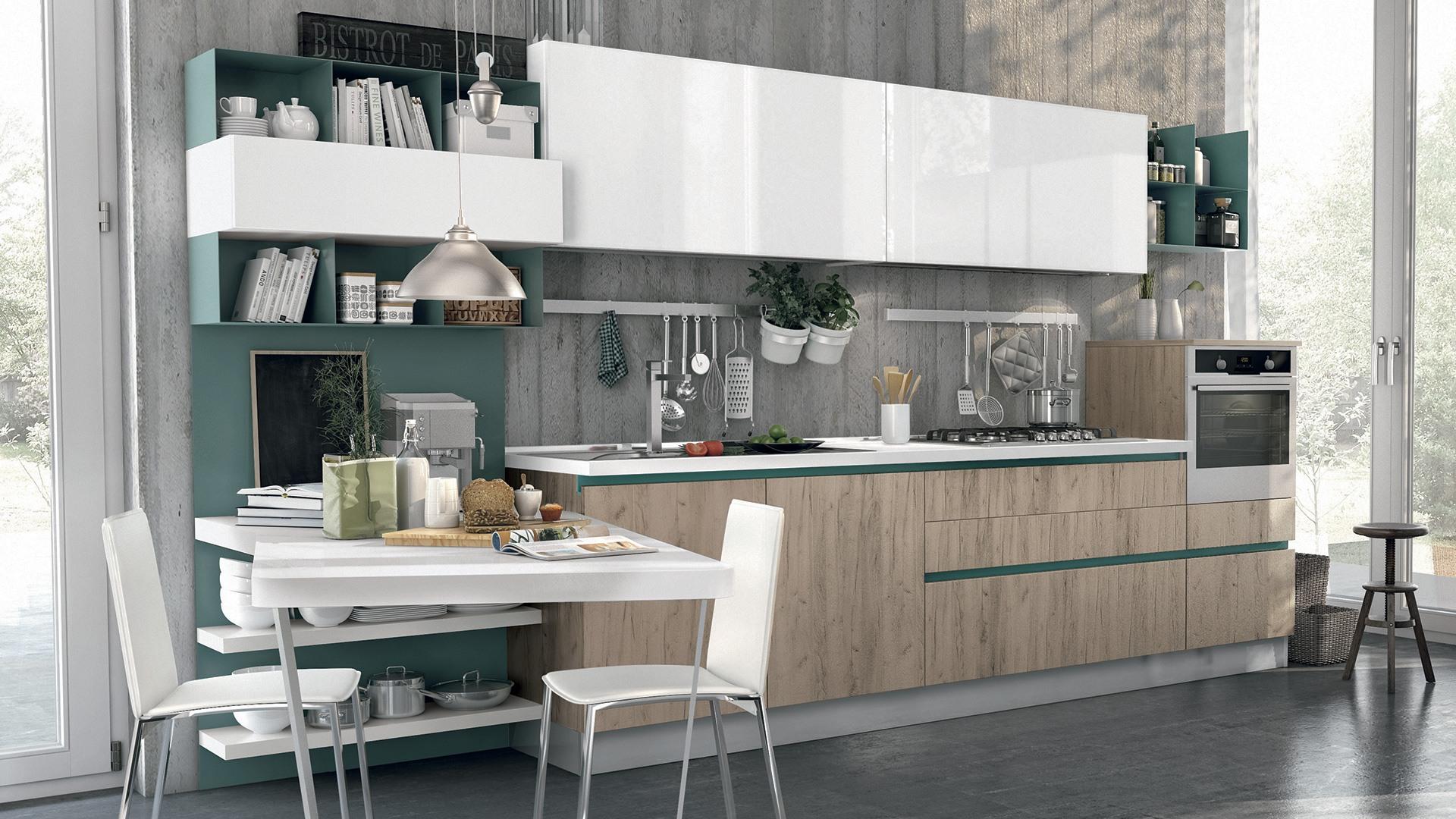 Come valorizzare una cucina bianca idee e spunti lube store milano le cucine lube creo a - Cucina tutta bianca ...