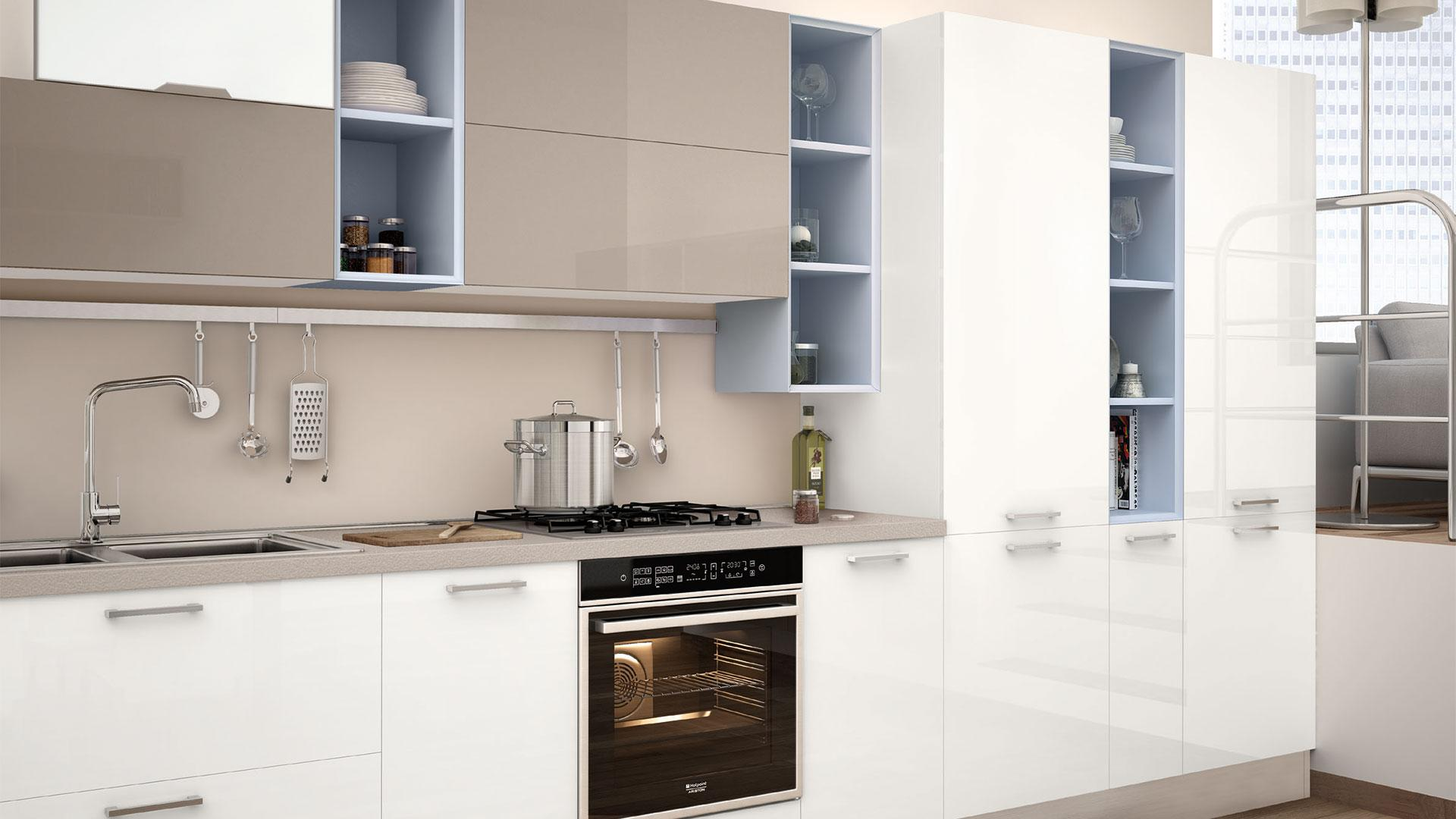 Paraschizzi per la cucina materiale e consigli per la scelta lube store milano le cucine - Paraschizzi cucina ...