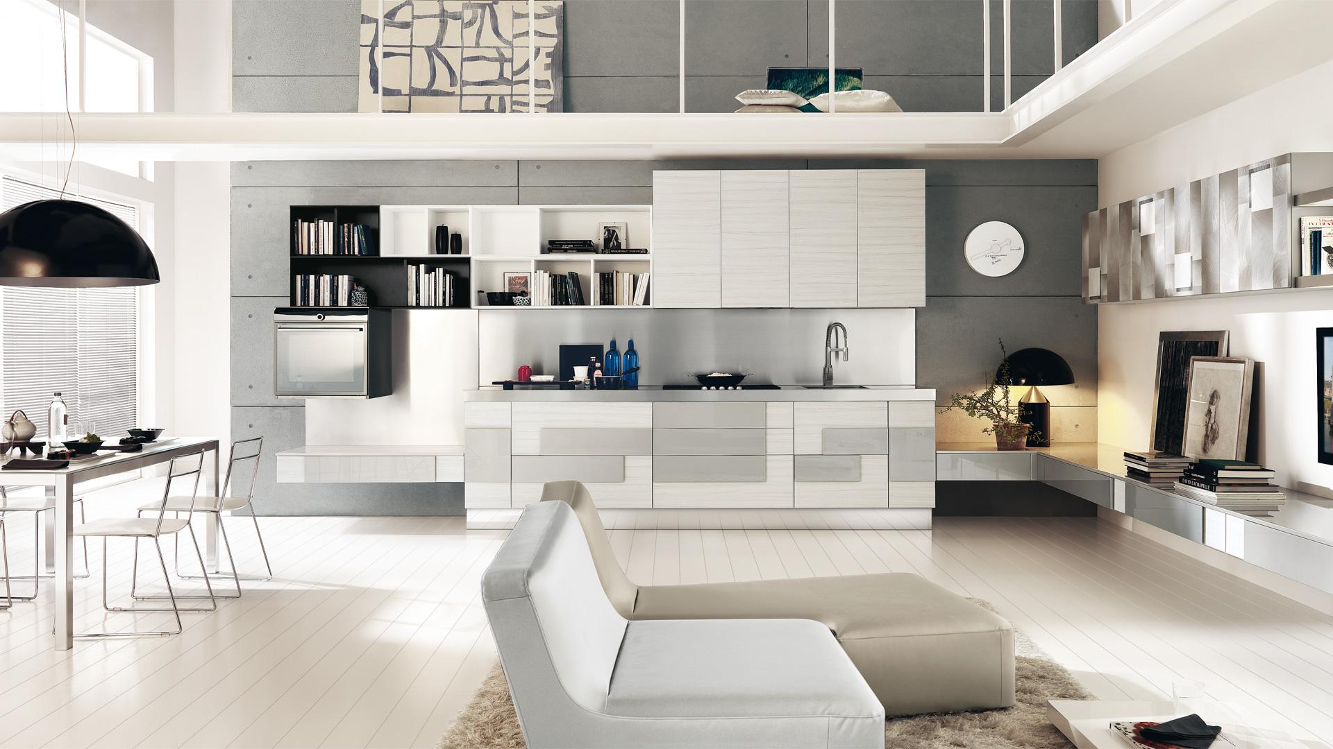 Cucina bianca 5 soluzioni per arredare proposti da lube for Cucina creativa