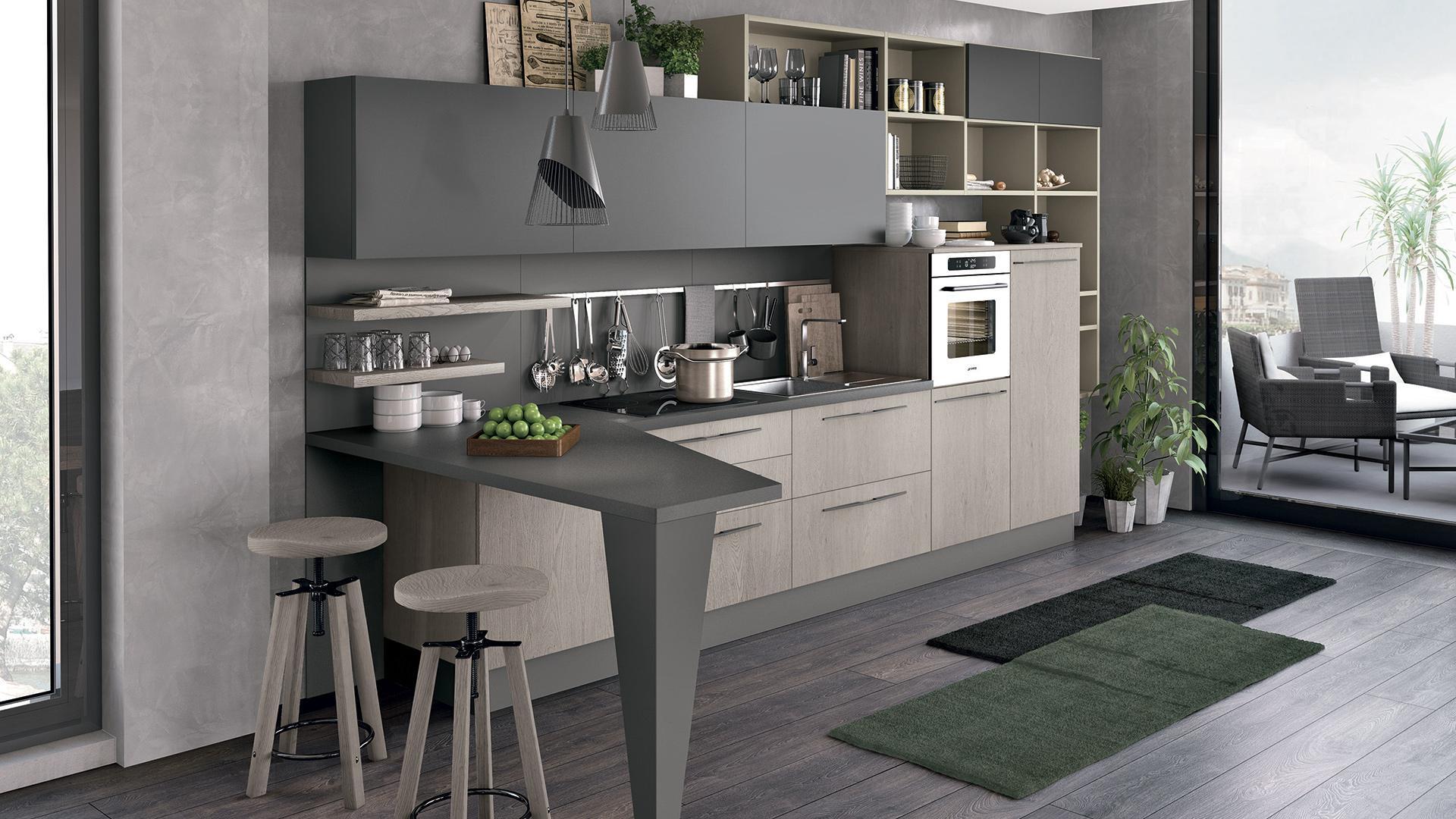 Cucine lube ad angolo i suggerimenti per arredare lube store milano le cucine lube creo a - Cucine moderne con isola lube ...