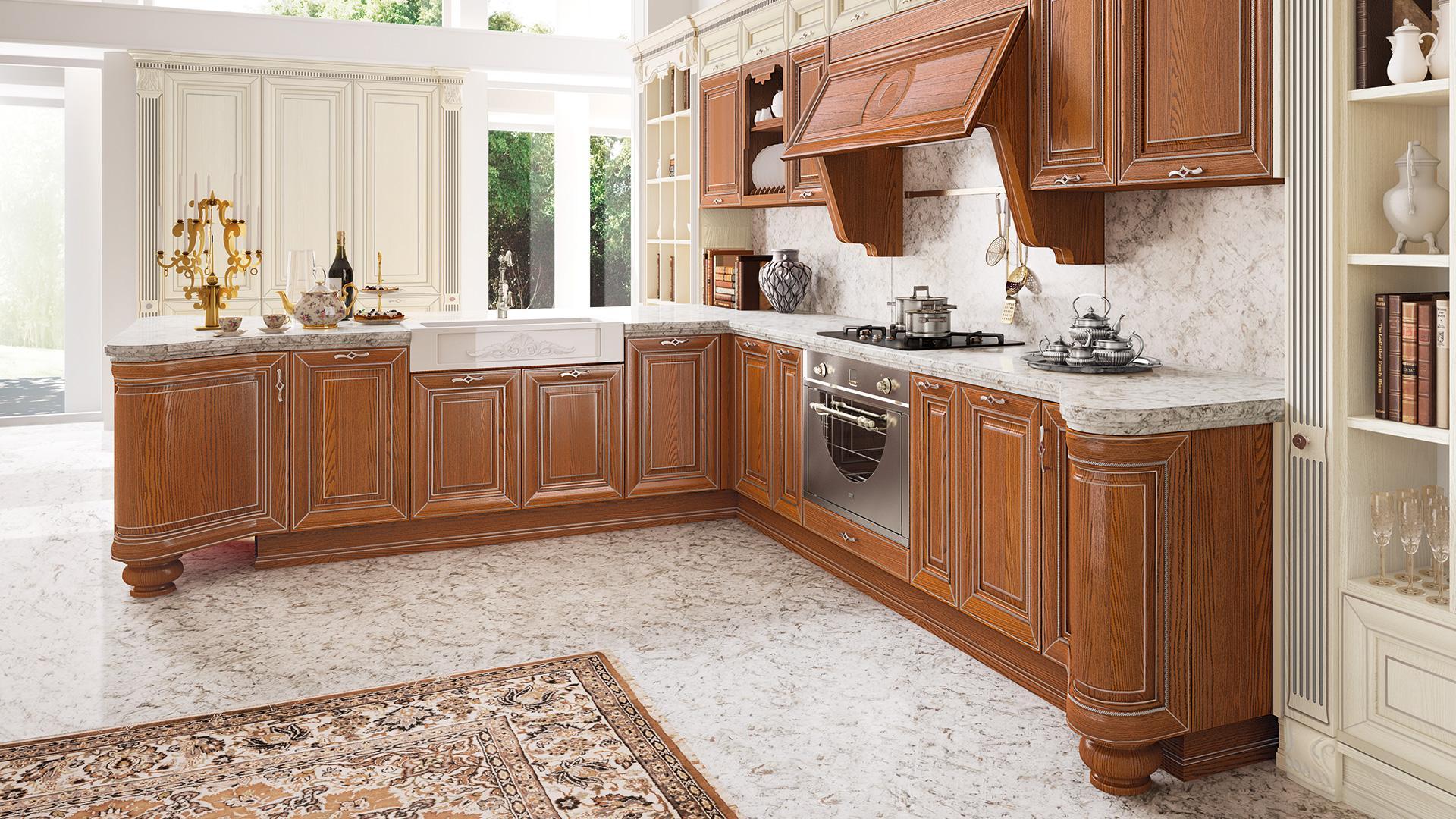 Cucina rustica le soluzioni classiche di lube store per arredare lube store milano le - Soluzioni no piastrelle cucina ...