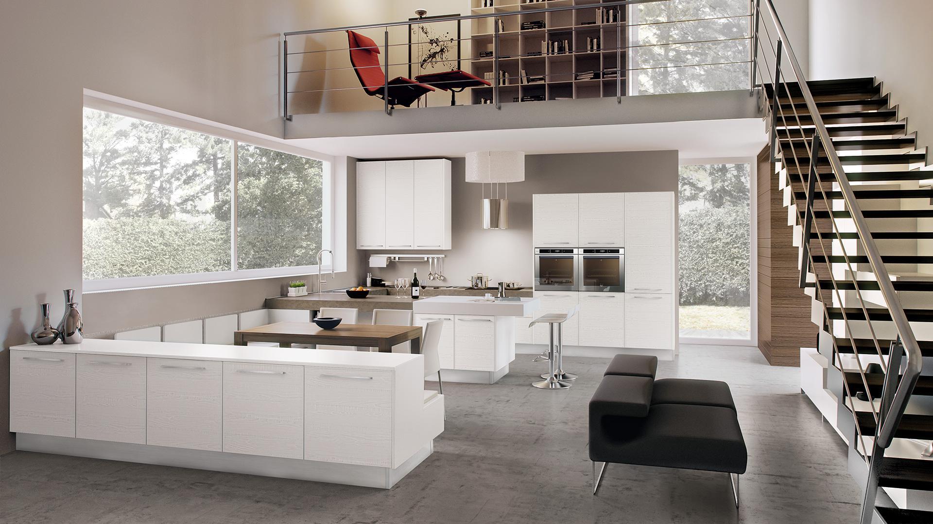 Perch scegliere una cucina bianca cucine lube milano - Cucina bordeaux e bianca ...