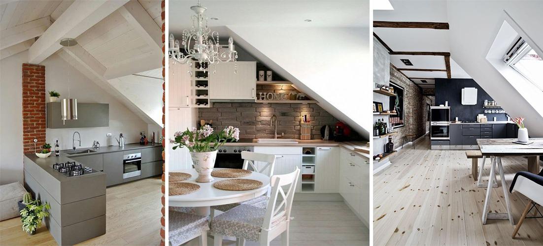 Tutti i trucchi per progettare al meglio la cucina mansardata - Lube ...