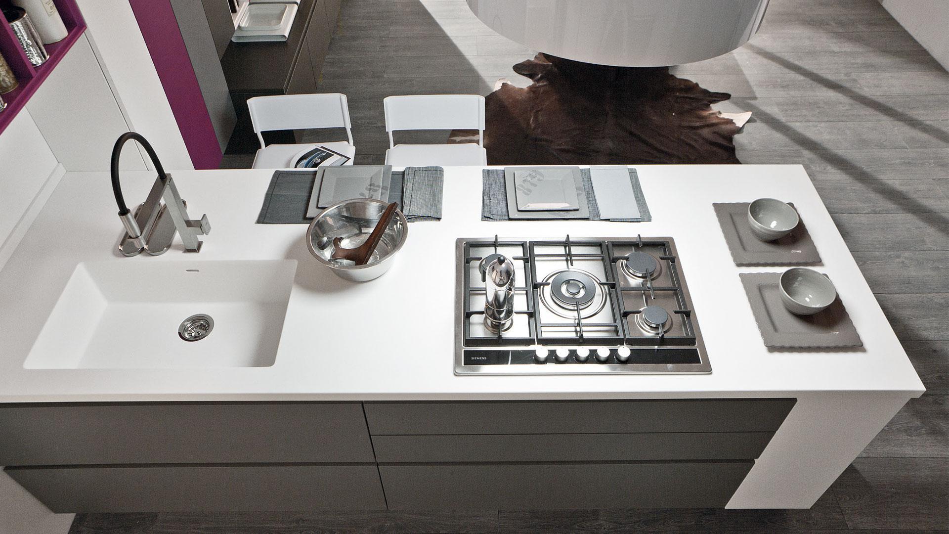 Cucine con isola le tendenze del 2019 lube store milano le cucine lube creo a milano - Cucine moderne con isola lube ...
