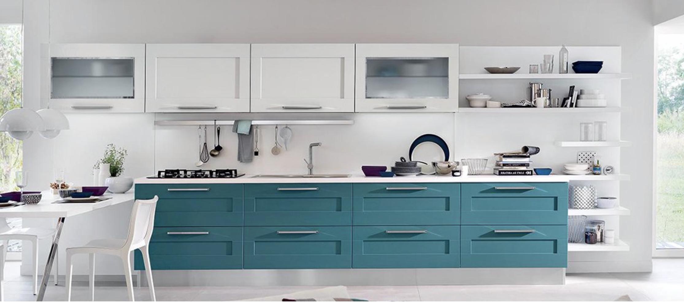 Cucine Moderne Bianche E Grigie Lube.I Migliori Colori Per La Cucina Da Provare Nel 2019 Lube
