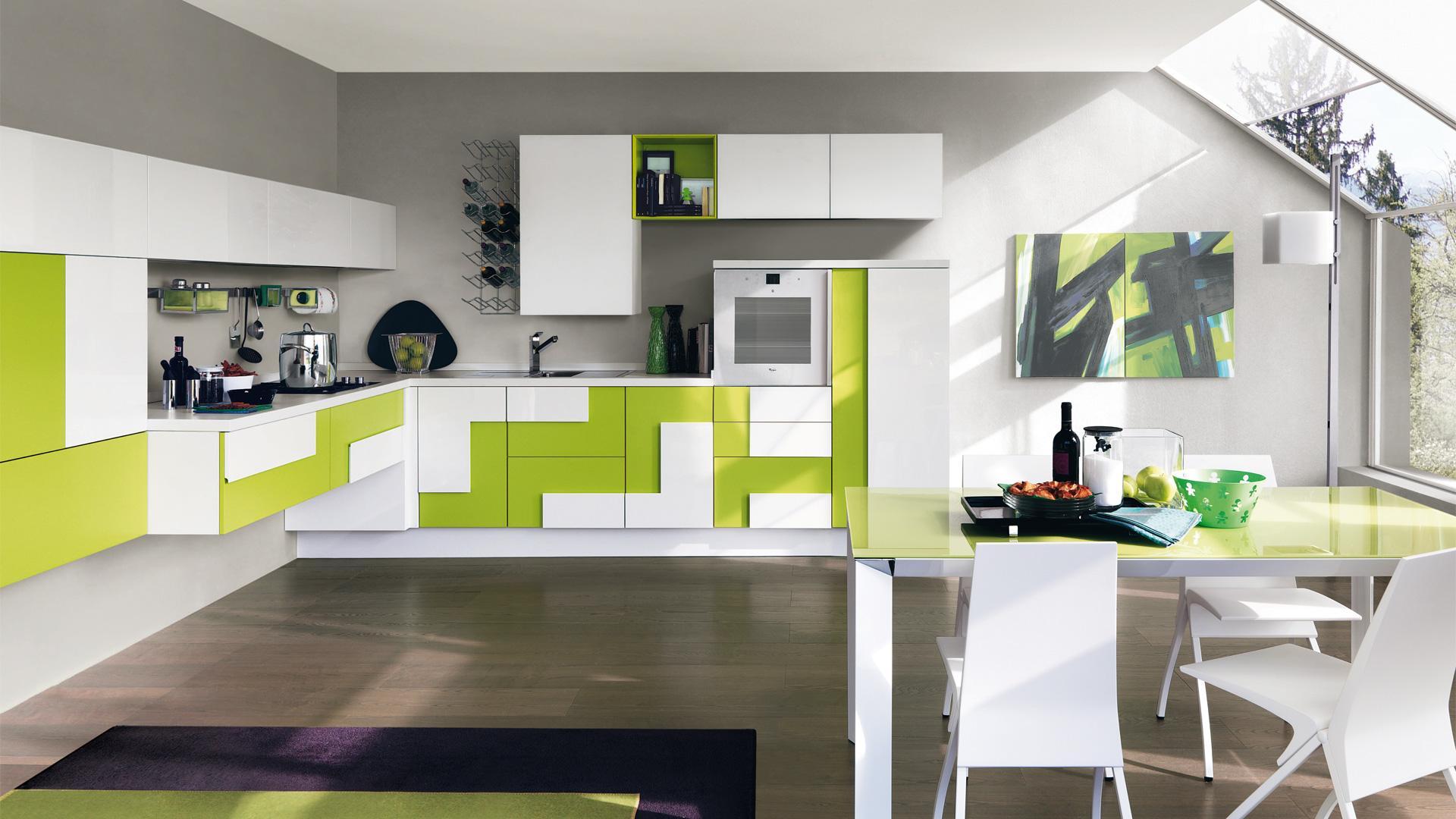 Green passion: le idee per arredare una cucina di tendenza ...