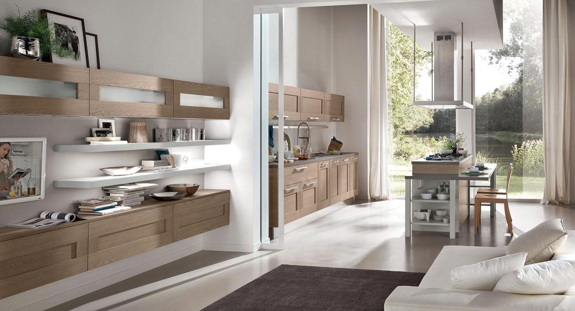 Cucine Open Space Moderne dividere cucina e living in un open space: 5 suggerimenti